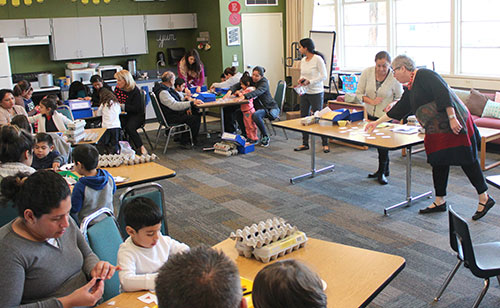 Families of Scott Lane State Preschool Learn New Math Games