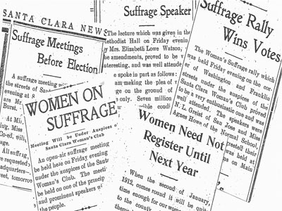 Santa Clara Woman's Club Played Key Role in Getting Vote for Women in 1911