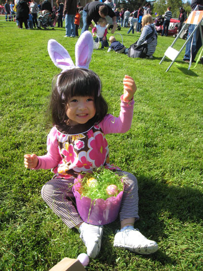 Families Come Out for City Egg Hunt