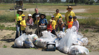 Cub Scouts from Santa Clara Pack 32 and Brownies from Troop 60650 Participate in National River Cleanup Day