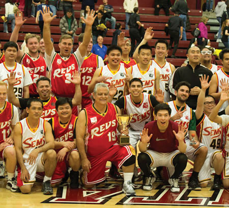 Revs Battle Sems in Annual Basketball Challenge