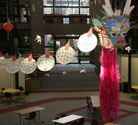 Chinese Dragon Kite at Mission College Welcomes the Lunar New Year