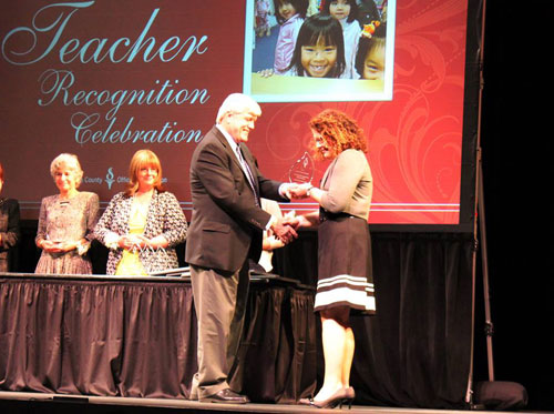 Mary Pat Phillips Wins Teacher of the Year Award