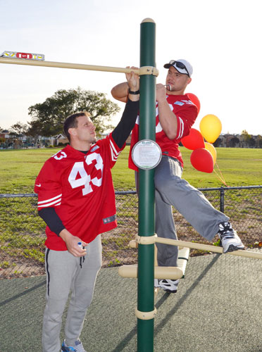 49ers and Optum Complete Outdoor Fitness Center at Don Callejon School