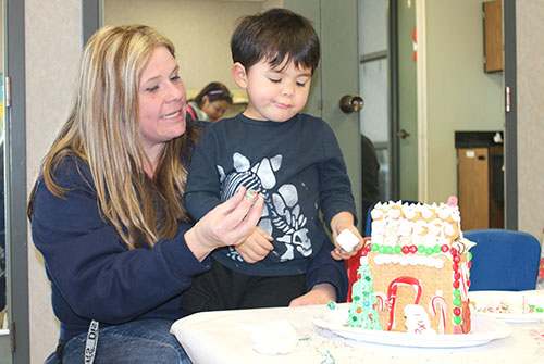 Community Recreation Center Becomes Gingerbread House Construction Site