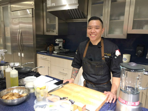 Roots & Rye's Chef Julian Yeo Gives Macy's Cooking Demonstration