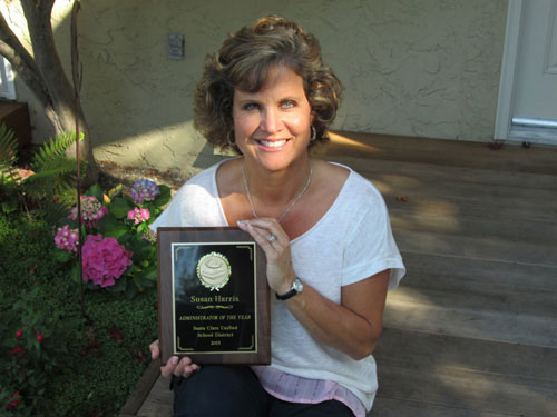 Principal Susan Harris is Named SCUSD's Administrator of the Year