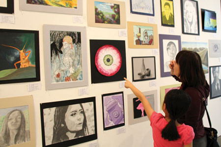 Santa Clarans Turn Out for Annual Student Art Show