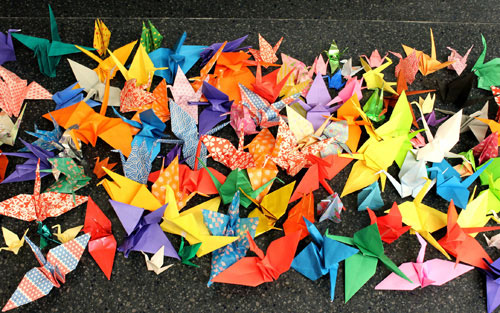 Santa Clara High School Students Fold Cranes for Struggling Senior