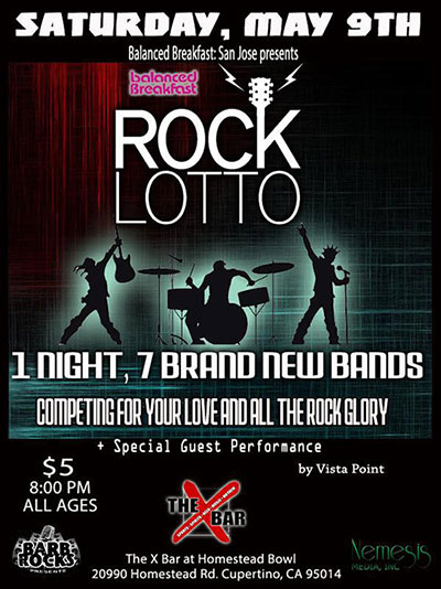Rock Lotto Show This Saturday at X-Bar in Cupertino
