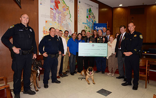 Rotary Club Donation to Sean M. Walsh Memorial For New SCPD K-9