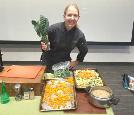 Chef Laura Stec Gives a Fall Cooking Demonstration