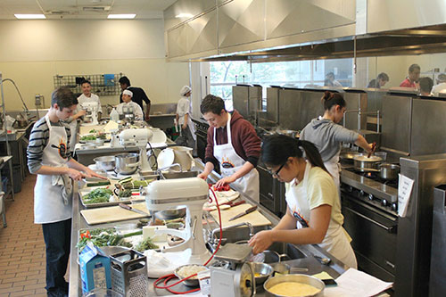 Polenta and Meringues Prepared for Mission College's  First Annual Culinary Competition
