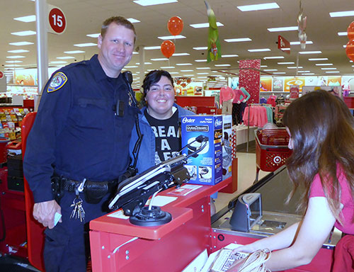 Cops Escort Kids on P.A.L. Holiday Shopping Spree