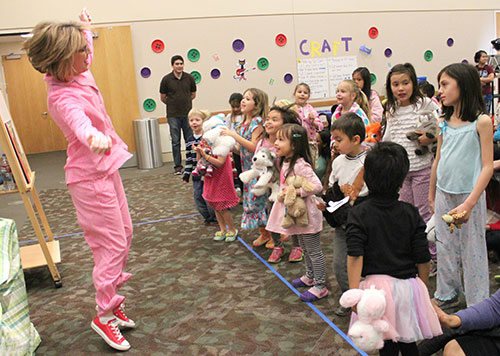 Children Get Cozy at Central Park Library's Pete the Cat Pajama Party