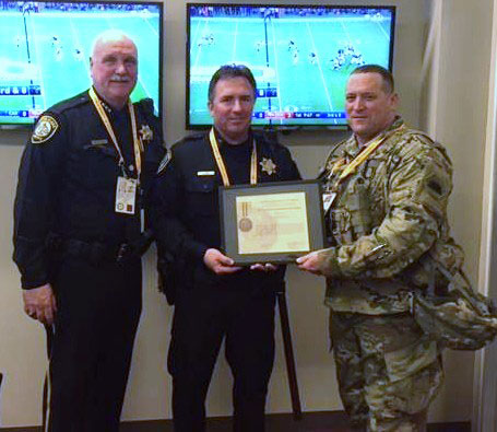 SCPD Capt. Phil Cooke Awarded California Commendation Medal for Coordinating Super Bowl 50 Security