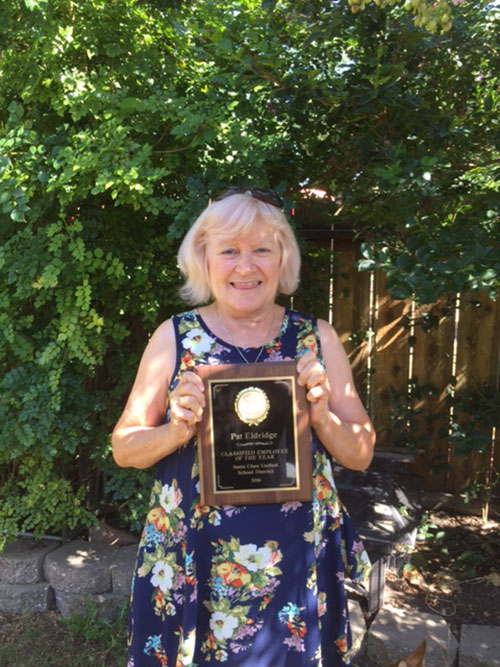 Pat Eldridge is SCUSD's Classified Employee of the Year
