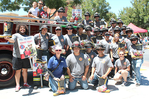 Santa Clara Firefighters Local 1171 Fill the Boot for the Muscular Dystrophy Association
