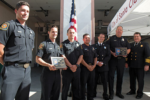 Santa Clara Fire Department's 2016 Service Awards Ceremony Honors Life Saving Heroes