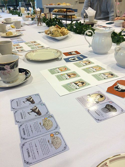 Conversation and Cards Mark Library's Jane Austen Tea Party