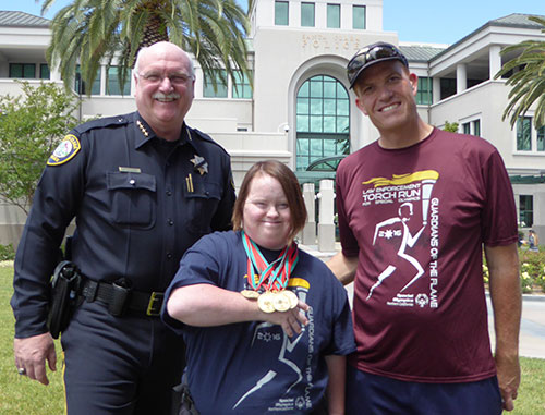 Santa Clara Police Hold High the Flame of Hope for Special Olympics