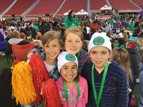 Santa Clara's Girl Scout Cookie Sale Superstars Enjoy Sleepover at Levi Stadium