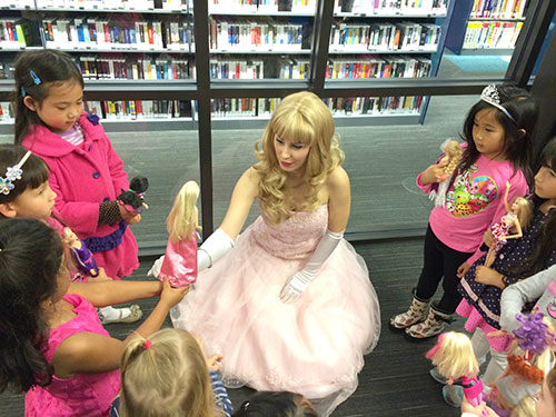 Dolls Come Out for Northside Library's Barbie Bash