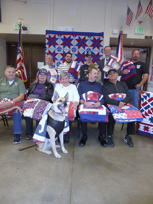 Quilting Peace Work: South Bay Blue Star Moms Award Quilts of Valor