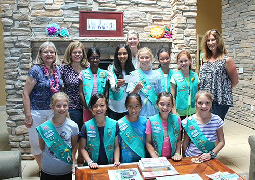 Girl Scout Troop 60028 Donates $1,000 to the JW House