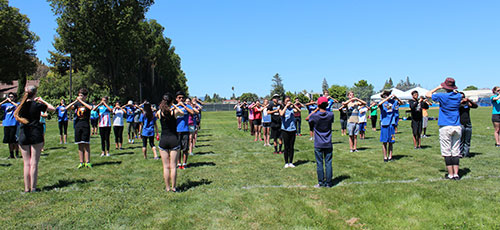 Fancy Footwork Taught at Santa Clara High School's Marching Band Camp