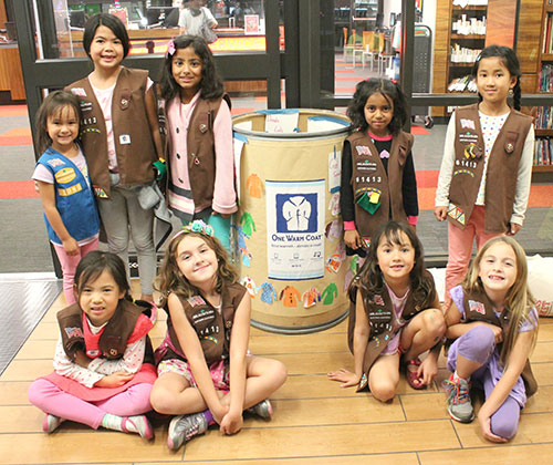 Girl Scout Troops from Don Callejon School Support Coat Drive for One Warm Coat
