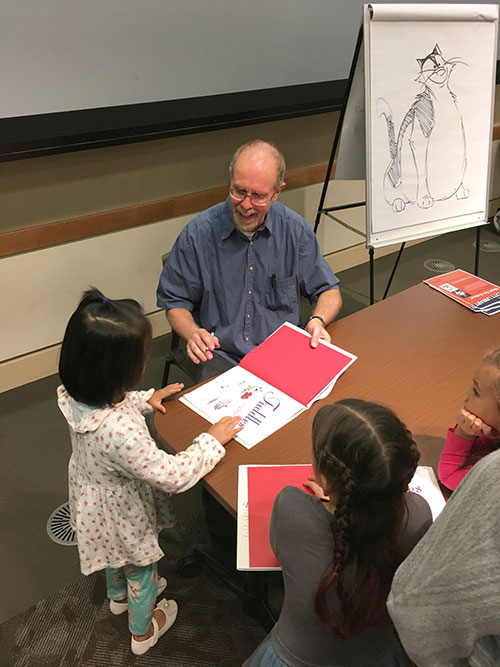 Children's Book Author and Illustrator Frans Vischer Speaks at Central Park Library