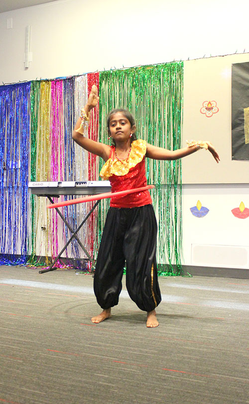 Talent Show Displays South Asian Culture at Northside Library's Diwali Dhamaka