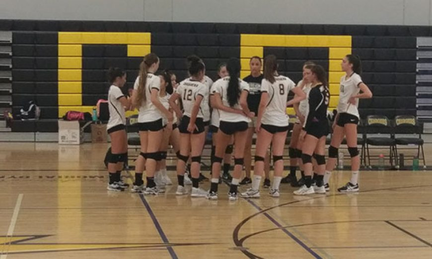 Chargers Volleyball Thrills Alumni, Despite Falling 3 Sets to 1