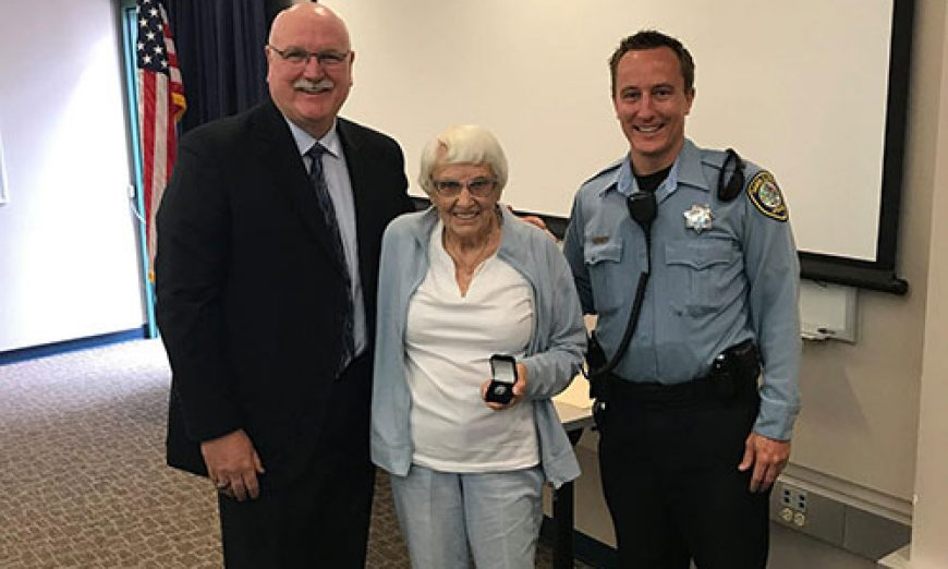 Norma Haxton Celebrates 20-Years as a Crossing Guard with SCPD