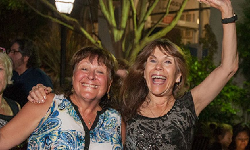 Santa Clarans Cut Loose at Annual Street Dance