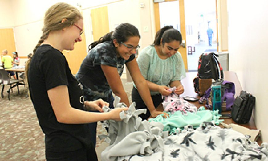 Girl Scouts Make Handmade Blankets with Love