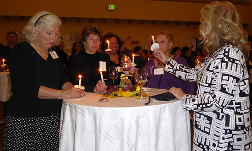 Lighting Up the Night in Memory of Lives Lost to Domestic Violence