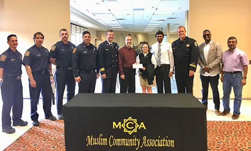 Muslim Community Association Makes Donation to Northern California Fire Victims