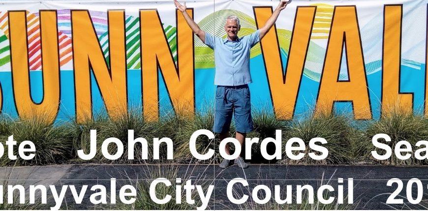 Sunnyvale City Council Seat #3 Candidate: John Cordes