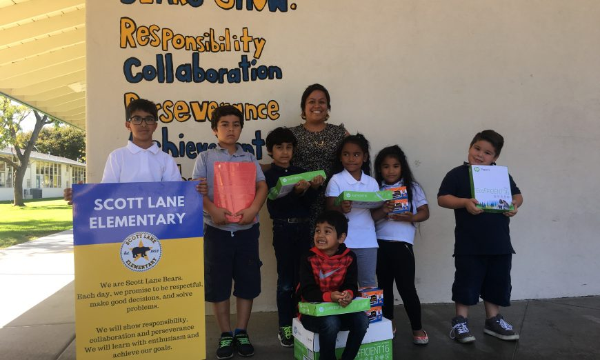 Scott Lane Elementary School Scores Back-to-School Donation from Rotary eClub of Silicon Valley