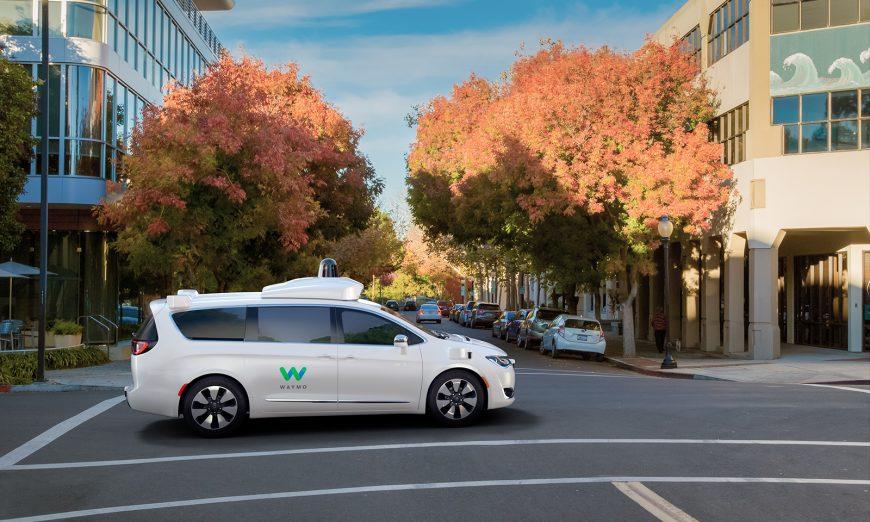 Waymo Driverless Minivan on the Road