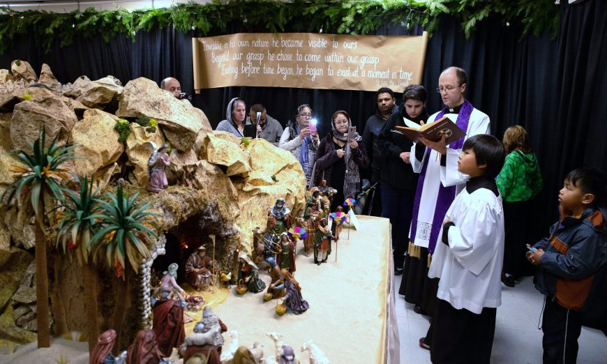 Miraculous Christmas Nativity Display at Our Lady of Peace, birth of jesus