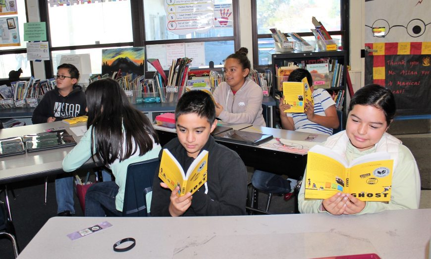 Kathryn Hughes Elementary School Students Receive Free Books from Books Inc