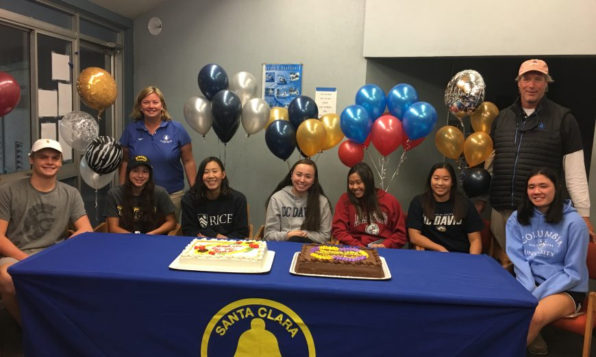 Santa Clara Swim Club Swimmers will swim in college
