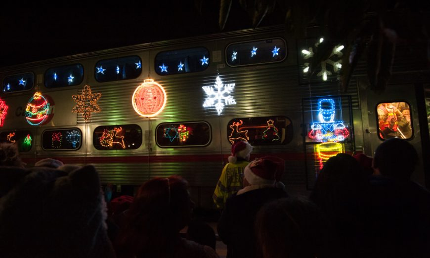 Caltrain Holiday Train Puts Seasonal Cheer on the Fast-Track