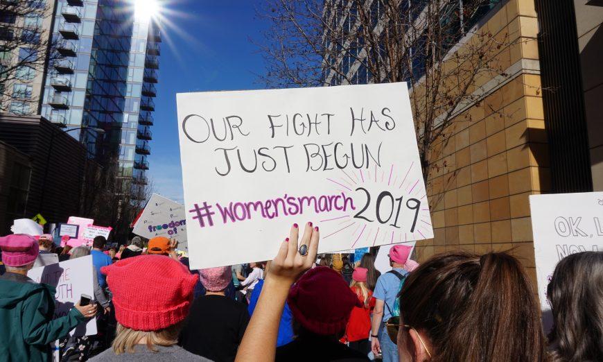 Women, Allies Take to the Streets for Women's March San Jose, SoGal Ventures founder Taarini Kaur Dang, Anti-Semitism, Jenny HigginsBradanini