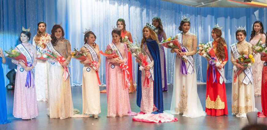 Miss Vietnam California Nguyen Kim Dieu Thy Mary, Miss Teen Vietnam California Maggie Ly, Miss Saigon Tran Thi My Ngoc