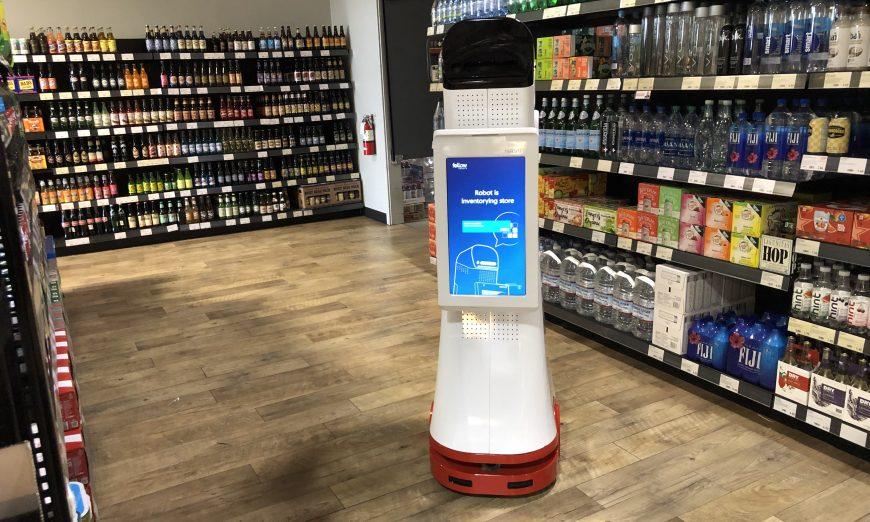 Robot Roams the Aisles at Santa Clara's BevMo! inventory,