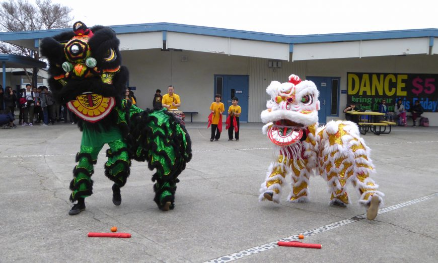 Miller Middle School Celebrates the Lunar Year of the Pig, Lion Dance, Cupertino Language Immersion Program